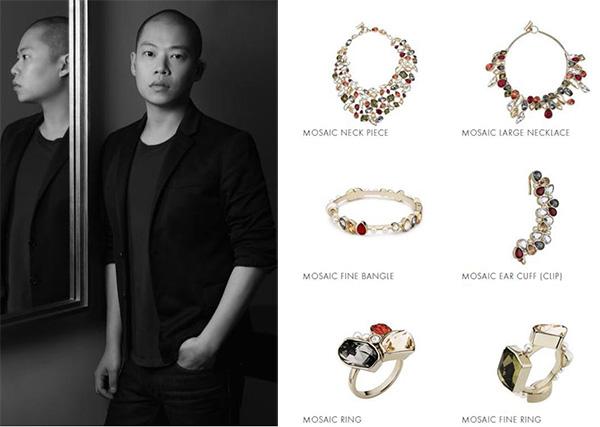 美国的华裔设计师Jason Wu用不规则切割的仿水晶拼凑出独特的珠宝风景画。