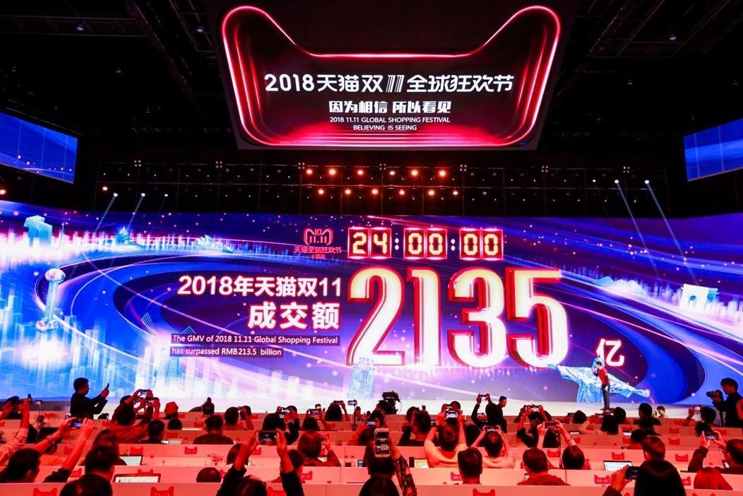 (天猫双11是当今世界最大的购物狂欢节,2018年天猫双11成交额达到2135亿)