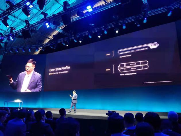 新浪科技讯 2月24日晚间消息,华为今日发布首款5G折叠手机――Mate X。华为消费者业务CEO余承东透露,与其他折叠手机不同的是,Mate X 合起来时不会在中间留个缝隙。