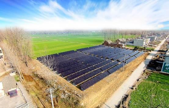 汉能集团承建的安徽泗县光伏精准扶贫项目