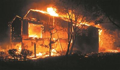 韩国发生大规模山火 4000人疏散、250公顷森林被毁