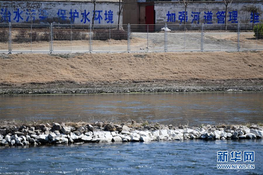 """这是4月10日在河北省遵化市拍摄的""""引滦入津""""工程重要输水河道黎河一景。新华社记者李然摄"""