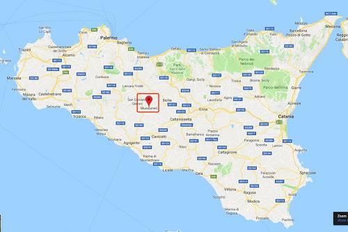穆索梅里镇在西西里岛上的位置(图片来源:谷歌地图)