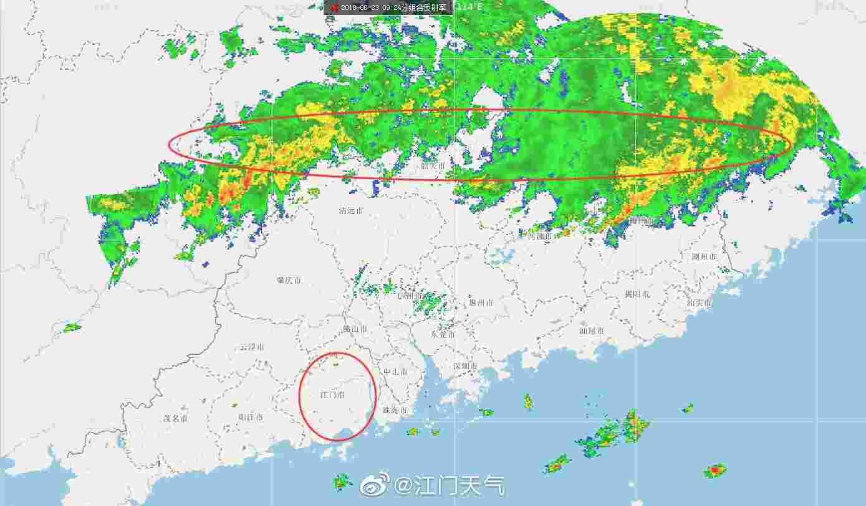 暴晒结束!明后两天,江门将出现局部暴雨