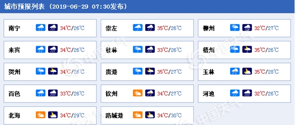 """广西未来一周雨水""""刷屏"""" 今天南宁桂林等地局地有暴雨"""