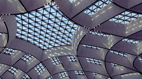 北京大兴国际机场航站楼内部(视频截图)