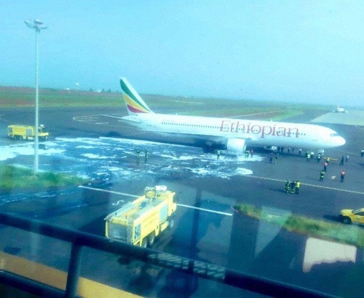 埃塞航一客机起飞后右发起火紧急返航无人受伤