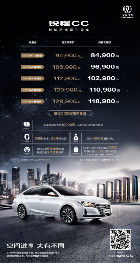 <b>睿骋CC更名锐程CC上市 5款车型售价8.49万元起</b>