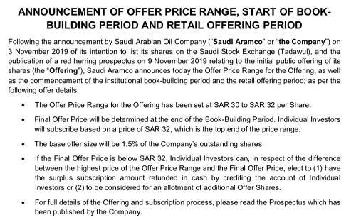 以此计算,沙特阿美国内IPO募资规模在900亿-960亿里亚尔(约合240亿-256亿美元),整体估值为1.6万亿-1.7万亿美元。