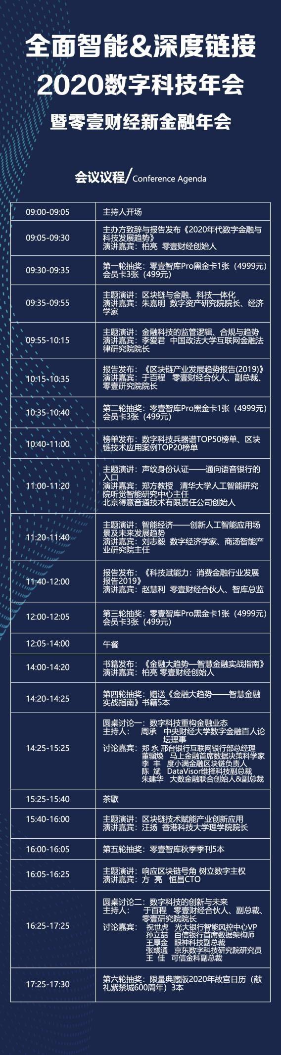 全面智能 深度链接 2019数字科技年会暨零壹财经新金融年会