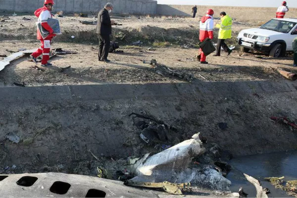 乌克兰国际航空公司一架波音737飞机在首飞后不久坠毁(图片来源:美国NBC音信)