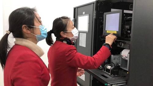 无锡分行清机加钞工作检查,确保疫情期间业务正常运行