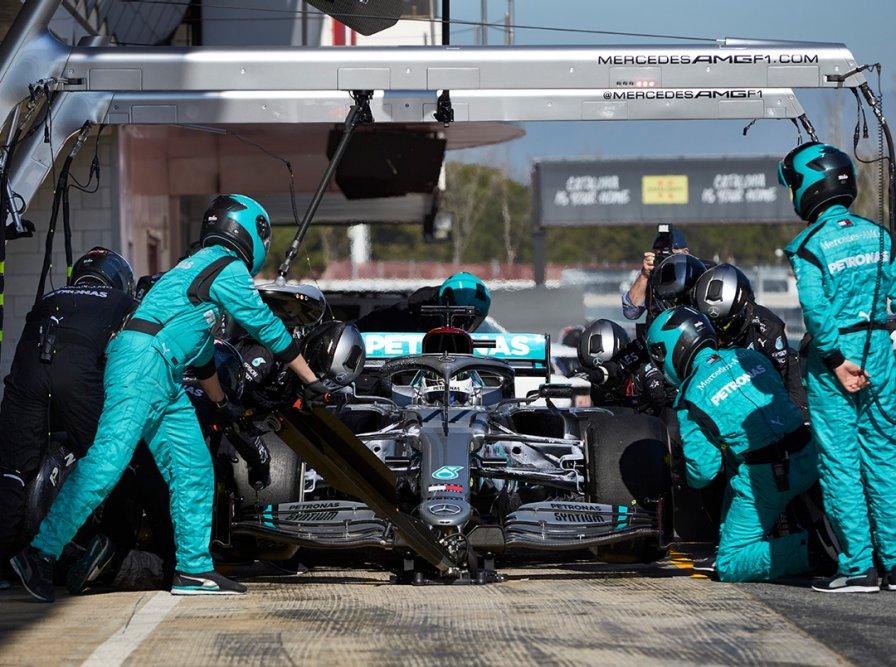 梅奔带来另类黑科技 2020赛季F1冬季测试DAY2