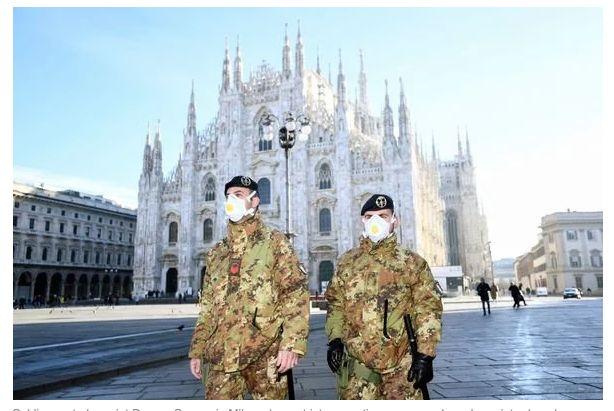 米兰市中央大教堂广场。/外交媒体截图