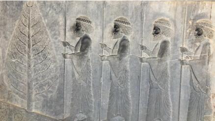 波斯波利斯的波斯帝国浮雕