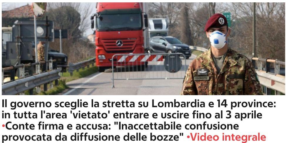 """意大利扩大疫情封锁区限制千万人,医院内外""""两个世界"""""""