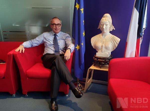 法国驻成都总领事白屿淞 图片来源:每经记者 杨弃非 摄