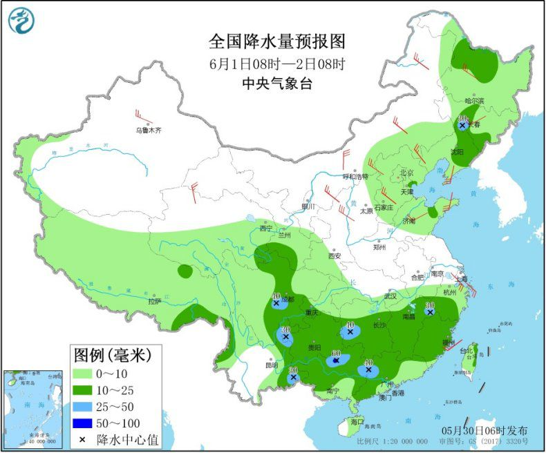 江南华南等地仍有较强降水 冷空气继续影响北方地区