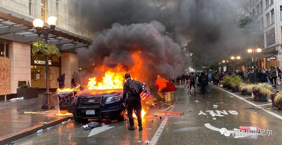 西雅图不眠夜:打砸抢烧蔓延到美国多个城市