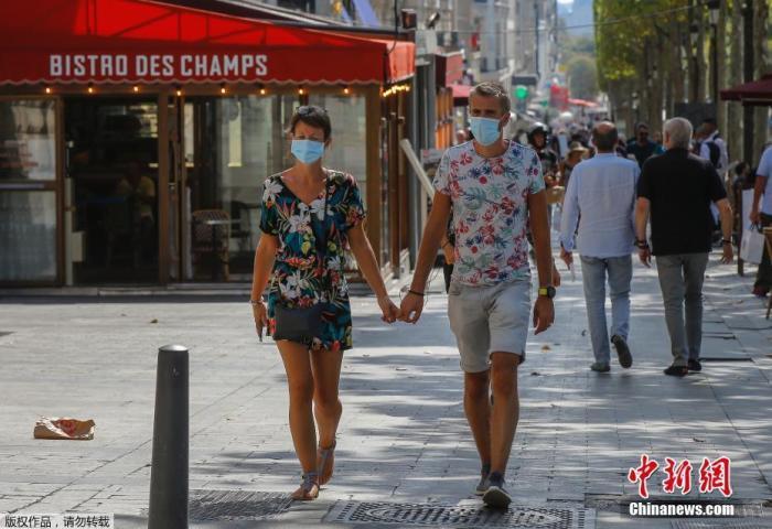 疫情反弹 法国宣布巴黎等地成为新冠高风险区域