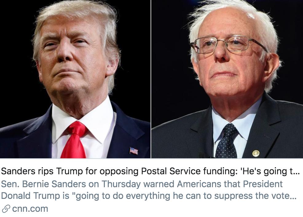 特朗普承认阻止邮政局获得资金,他到底打着什么算盘?