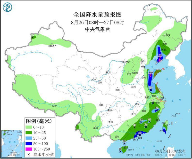 """台风""""巴威""""影响我国东部 东北地区等地将有较强降水"""