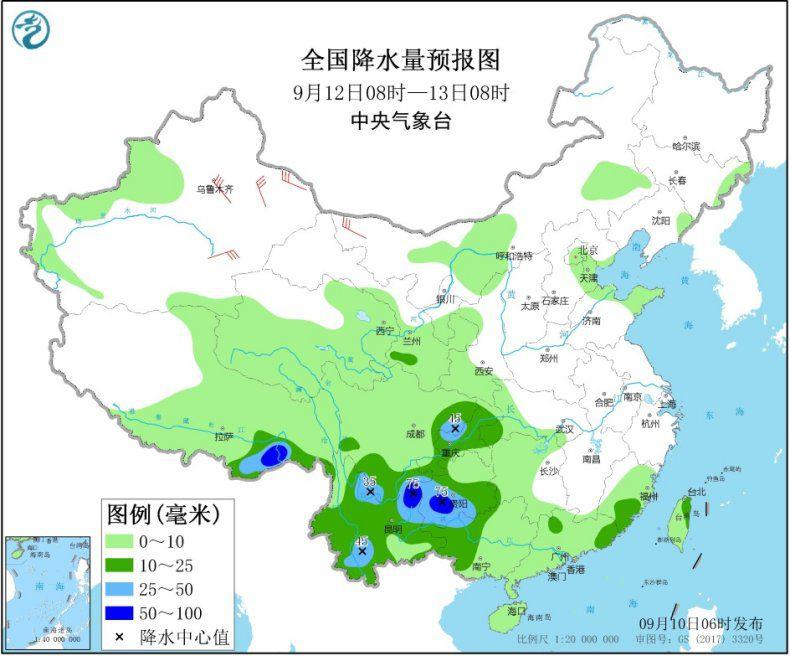 西南地区等地多降水 局地有暴雨或大暴雨