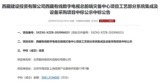 数码视讯中标西藏有线数字电视总前端灾备中心项目-新闻频道-和讯网