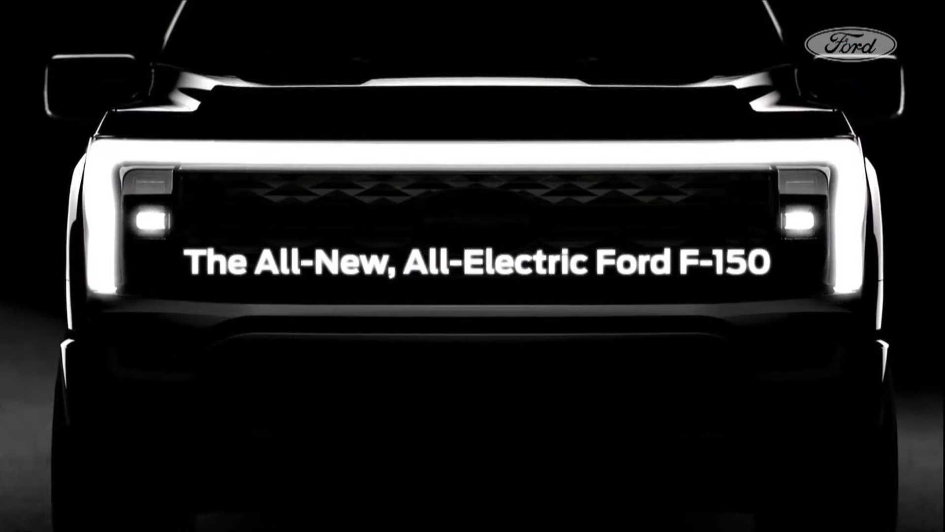贯穿式灯带设计 福特F-150纯电版预告图发布
