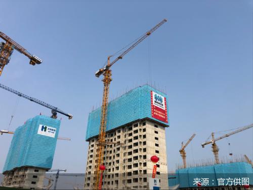 北京大兴国际机场噪声区安置房住宅楼主体结构封顶