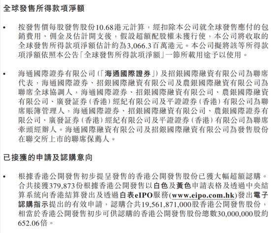 """""""卓越商企服务定价10.68港元:超购651倍 一手中签率10%"""