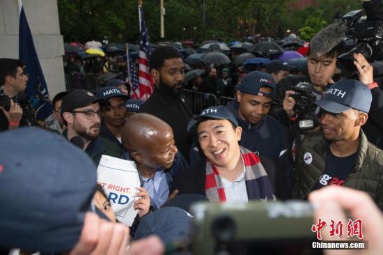 纽约市长华裔参选人杨安泽感染新冠 症状轻微