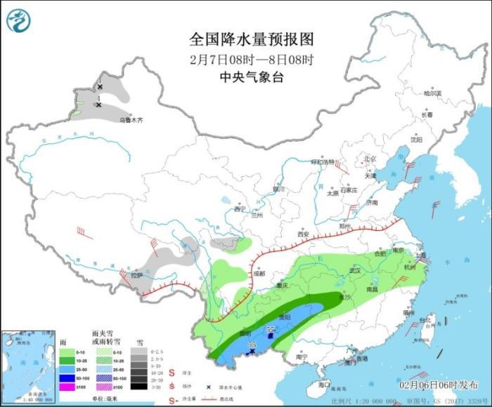 江南华南等地将有明显降雨 长江中下游将有大雾天气