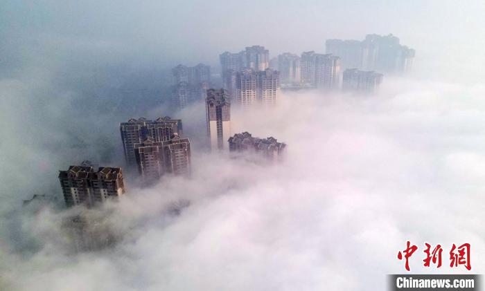 四川多地遭遇大雾恶劣天气 多条高速公路临时交通管制