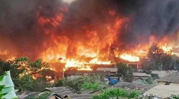 突发!孟加拉国罗兴亚人营地发生火灾,已致15人死亡,400人失踪