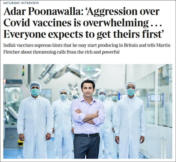 印度疫苗生产商CEO逃往英国:怕变异病毒、疫苗材料短缺