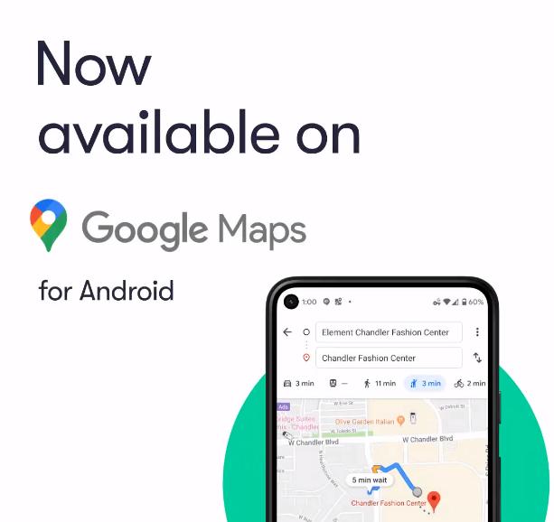 Waymo无人驾驶出租车服务现已接入谷歌地图