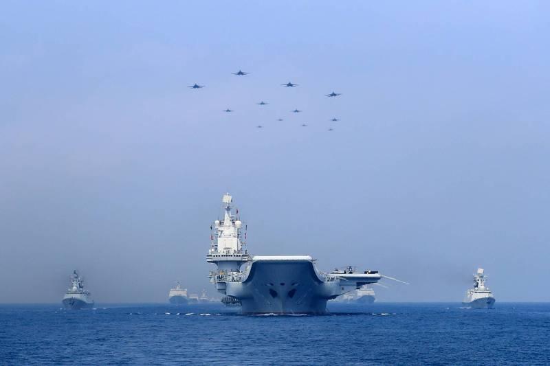 台湾绿媒炒作:解放军3艘军舰18日由南向北通过台湾东部海域