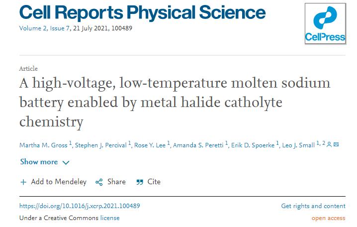 美科学家研发新型熔盐电池 有望更低温且廉价地实现电网级储能