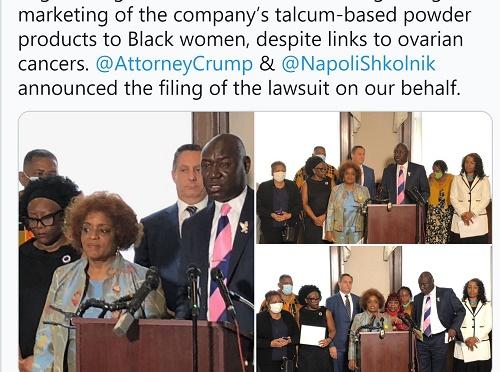 CBS:强生公司遭黑人妇女组织起诉 推销爽身粉导致卵巢癌