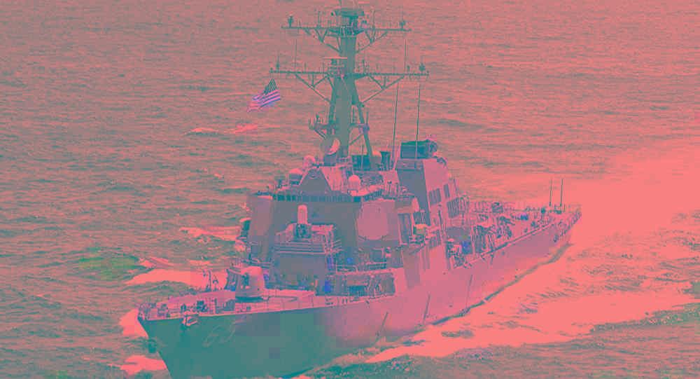 又在滋事搅局!美海军宣称一导弹驱逐舰航行通过台湾海峡