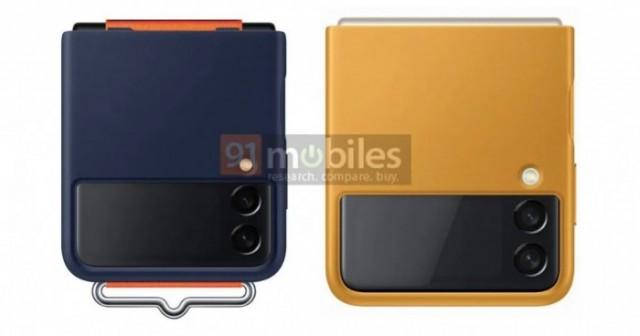 三星Galaxy Z Flip 3官方保护套渲染图曝光:多种材质/配色+自带拉环