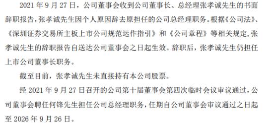 *ST中迪总经理张孝诚辞职何锋接任上半年公司亏损8418.05万